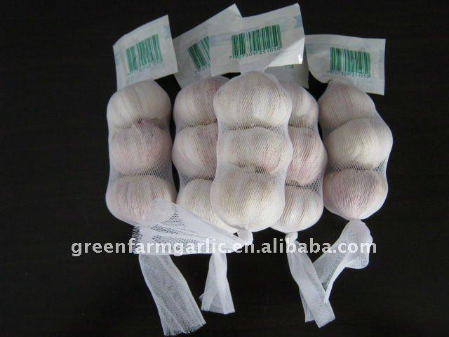 white garlic in 3pcs/500g/1kg mesh bag